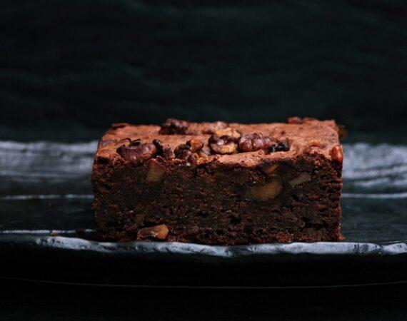 Brownie de chocolate y calabaza (sin harinas)